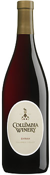 Columbia Winery Syrah wine bottle