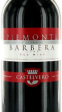 Castelvero Barbera red wine bottle