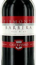 Castelvero Barbera red wine bottle