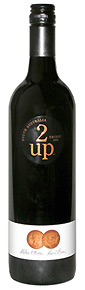 2-up Shiraz wine bottle