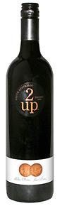 2-up Shiraz wine bottle